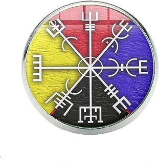 Bussola Rune Uomo Risvolto Picture Glass Spille Cool Badge Fit Sacchetti Di Vestiti