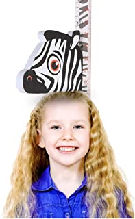Zoolandor Vivid Zebra Height Chart for Children's Growth, A Good Home Decor for Kid's Room, Creative, Safe, and Lovely Measurement Tools for The Kids