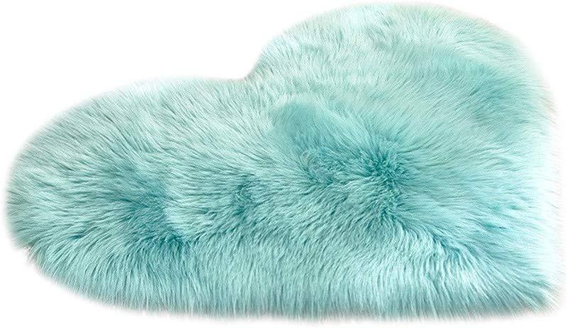 Lywey Soft Anti Skid Wool Imitation Sheepskin Rugs Faux Fur Non Slip Bedroom Shaggy Carpet Mats C
