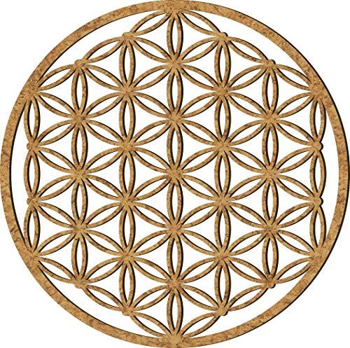 Blume des Lebens Holz 39-49 cm groß | Blume Wand | Lebens-Blume Wand Dekoration | Spirituelles Symbol | Esoterik Geschenke Blume | Verschiedene Designs | Wandbild groß
