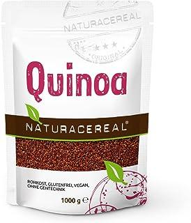 NATURACEREAL Quinoa, rot, 1000 g 1x1kg - Glutenfrei und eiweißreich