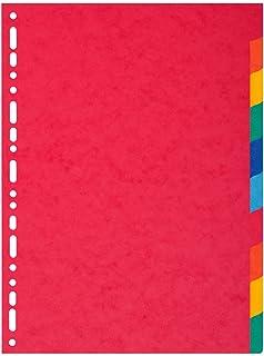 Exacompta 2110E Intercalaires Carte 220g 10 positions - A4 Maxi