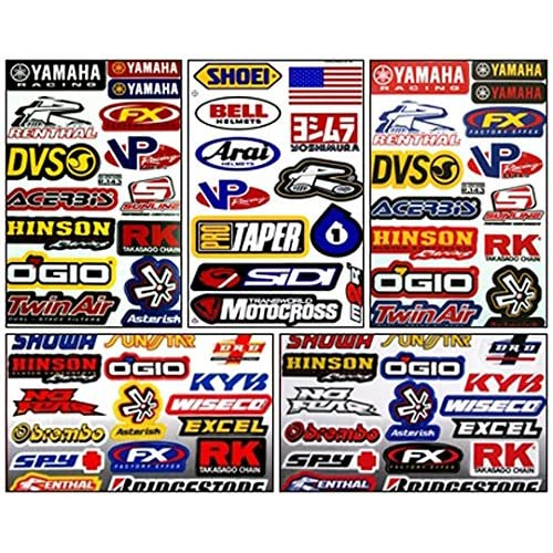 Yamaha Motocross Bike Racing Decal Kit Sticker Set of 5 Sheets #Ym-502