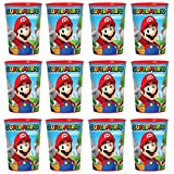 Super Mario Lot of 12 470ml Party Plastic Cup Party Favour Supplies by SuperMario