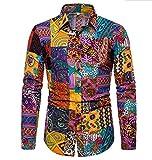 SHENSHI Camisas Hombres,Camisa De Manga Larga con Botones Camisa De Flores De Solapa De Moda Suave Y Cómoda Camisas Sociales De Negocios, como Se Muestra, XX, Grande