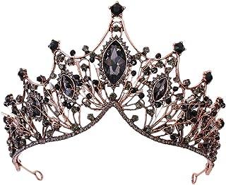 SOLUSTRE Diadema de Corona de Novia de Cristal Boda Princesa Tiara Diadema Rhinestone Corona de Reina Real Diadema de Cump...