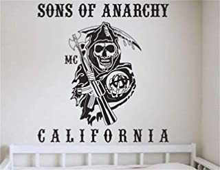 Vinyl Wall Decal Quote Stickers Home Decoration Wall Art Mural Sons of Anarchy California for Living Room Bedroom