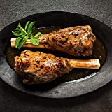 Cuisine Solutions - Fully Cooked Sous Vide - Lamb Shank Rosemary Mint (Two - 10 Ounce Shanks) (2 Servings) - Gourmet Meal Starter