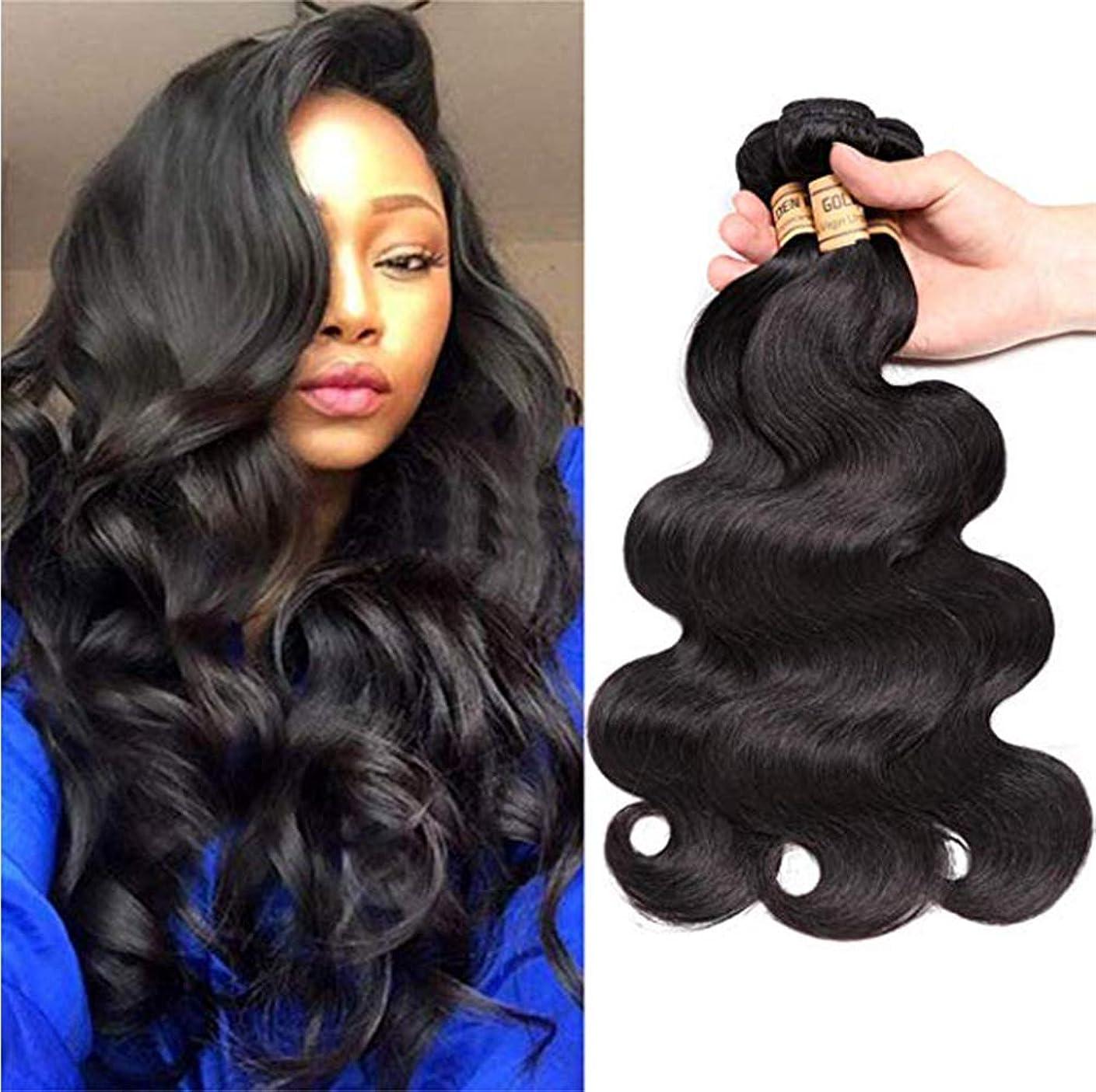 恥ずかしいリル剥離閉鎖とブラジルの実体波の束を編む女性の髪閉鎖人間の髪の毛の束とブラジルの髪の束