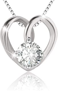 Swarovski Elements 925 Sterling Silver Pendant Necklace JRosee Jewelry JR679