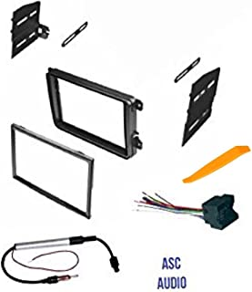 ASC Double Din Car Stereo Radio Dash Kit, Wire Harness, and Antenna Adapter for VW Volkswagen: 12-15 Beetle,09-14 CC,07-14 Eos,10-14 Golf,06-14 GTI,06-15 Jetta,06-14 Passat,06-09 Rabbit,09-14 Tiguan