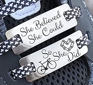 Cycling Gifts, Cyclist Gift, Cycling Gifts for Women,Bike Accessories,Cycling Accessories,Shoe Lace Charms,Shoe Lace Tags,Sneaker Lace Charm