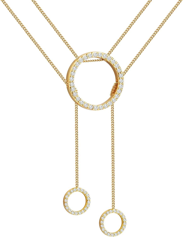 Girafe Circle Necklace 14k Lariat Trinity Layered Max 64% OFF Very popular! Gold