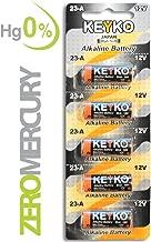 A23 Battery 12V Alkaline 55 mAh - 5-Pcs Pack - for Garage Doors Opener, Ceiling Fans & Wireless Doorbells Remotes Type: 12 Volt MN21 23GA 21/23 GP23AE A23G A23S - 2 Years Warrantee - Genuine KEYKO
