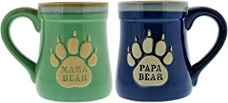 Mama & Papa Bear Ceramic Funny Coffee Mug, Nobody Messes with My Cubs, Large Coffee Mug- 18 oz, Gifts for Mom & Dad