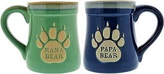 papa bear enamel mug
