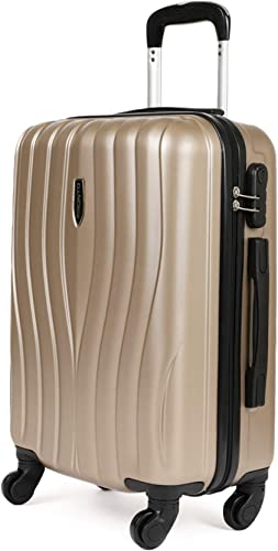 Spectrum ABS 56 cms Gold Hardsided Cabin Luggage 6447 GD