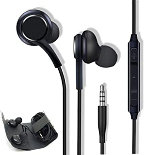 Aux Headphones/Earphones/Earbuds, (2 Pack) 3.5mm Wired in-Ear Headphones with Mic and Remote Control Compatible with Galax...