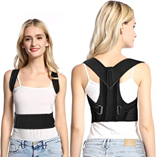 Doact Posture Corrector Brace Clavicle Support Back Straightener Upper Back Shoulder Forward Head Neck Aid Straps, Improve and Fix Poor Posture for Women Men (L)