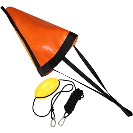 42 inch Orange ,Suitable for The Ocean Boat//Wind Boat//Inflatable Boat//Power Boat etc Ikerall Drift Socks sea Anchor Hook