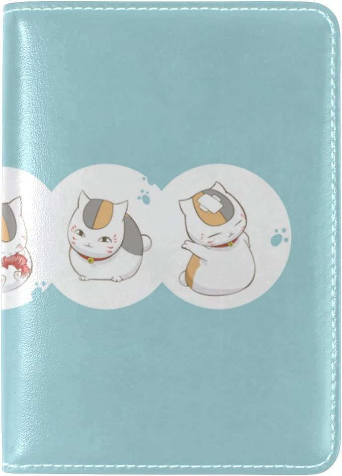 Cute Cat Leather Passport Raleigh Mall Travel Holder Cover lowest price Cas