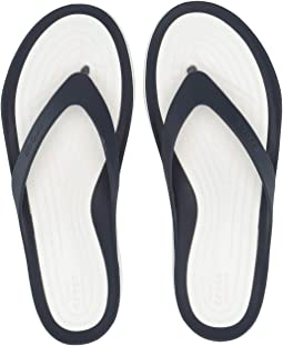 24ed628f420540 New Capri Leather Flip-Flop.  49.50. New. Navy White