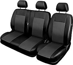 Zakschneider Fundas De Asiento para Nissan NV300 Color Premium Cuadrados Negros Conjunto De Fundas 1+2