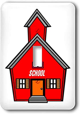 3drose Lsp 25990 2 Little Red Schoolhouse Toggle Switch Multi Color Switch Plates Amazon Com