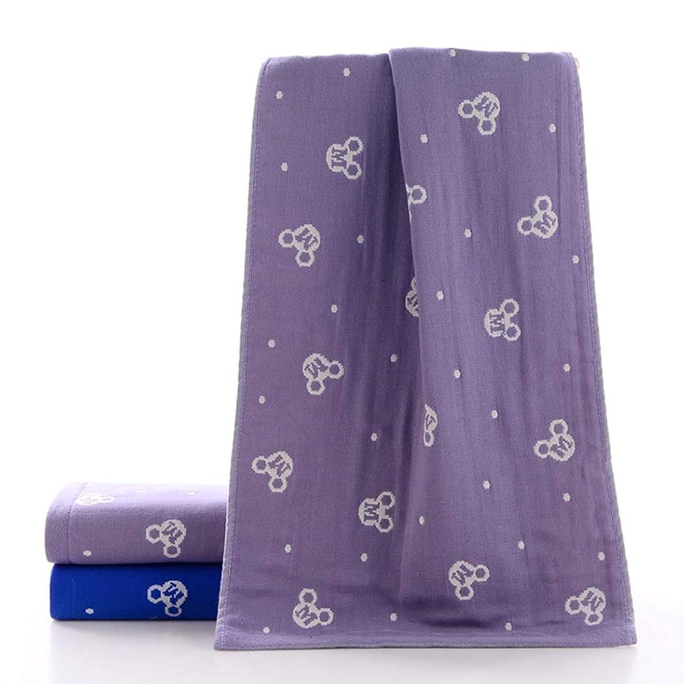 かき混ぜる百万老人高級コットンバスタオルタオルドライタオルソフト快適,Purple,34*75cm
