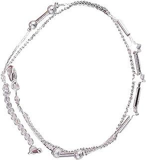 Little Star - Cavigliera con doppia catena, con sandali a piedi nudi, idea regalo per San Valentino, compleanno