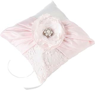 وسادة خاتم زفاف وردية عتيقة شيك من ليليان روز، 17.78 سم