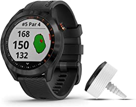 بسته نرم افزاری Garmin Approach S40 ، ساعت هوشمند شیک GPS گلف ، شامل سه ردیاب کلوپ CT10 ، مشکی