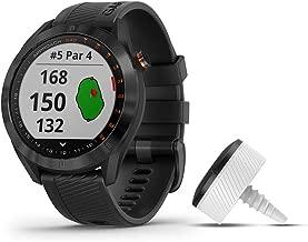 Garmin Approach S40 Bundle, Stylish GPS Golf Smartwatch, Includes Three CT10 Club Trackers, Black
