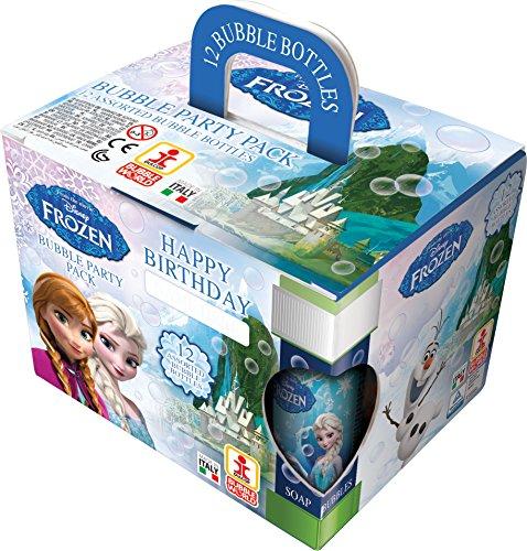 Dulcop 103.658000 - Bolle di Sapone Frozen in Confezione Party Pack, 12 Pezzi