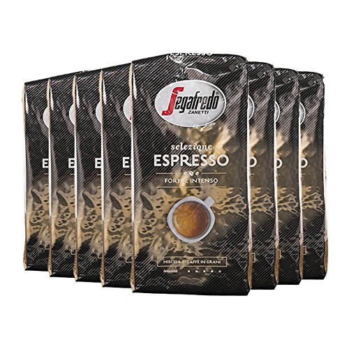 Segafredo Selezione Espresso Forte Intenso, 1000g ganze Bohne (8x1kg), 8er Pack