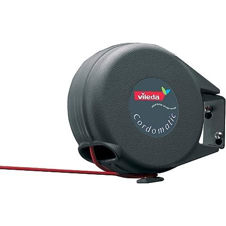 Vileda Cordomatic Corde à Linge Rétractable Automatique, avec Guide de Sécurité - 15m