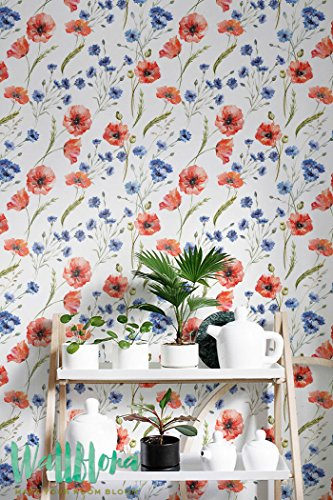 Cornflower Wallpaper Removable Adhesive