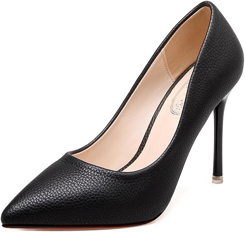 Ladola Womens Business Closed-Toe Slip-Resistant Waterproof Urethane Pumps shoes
