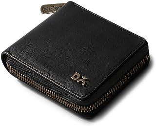 DailyObjects Black Vegan Leather Zip Wallet