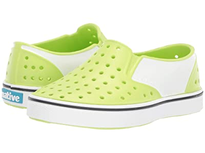 Native Kids Shoes Miles Block (Toddler/Little Kid) (Sunny Green/Shell White/Shell Block) Kids Shoes