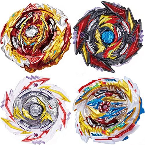 4 Pieces Pack Burst Gyros Battling Top Battle Burst High Performance Set, Birthday Party School Gift Idea Toys for Boys Kids Children Age 6+.