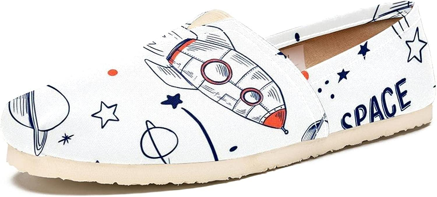 Space 55% OFF Flight Rocket Planet Stars Loafers Comfortable Sale SALE% OFF S for Women