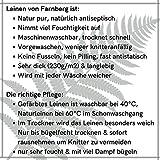 Hochwertige Leinenserviette, Serviette aus 100% Leinen  6 Stück im Set, 6er Pack  Dicke Qualität   Mit Liebe in Deutschland genäht   Viele Farben   edel & pflegeleicht   40x40 cm (LxB)   Uni Mint - 7