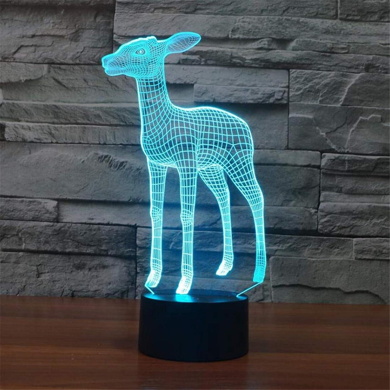 L06 Nachtlicht Kreative Deer 3D Tischlampe Bunte Gradienten LED Nachtlicht Atmosphre Dekoration Lampe Schlafzimmer Kinderzimmer Lampe