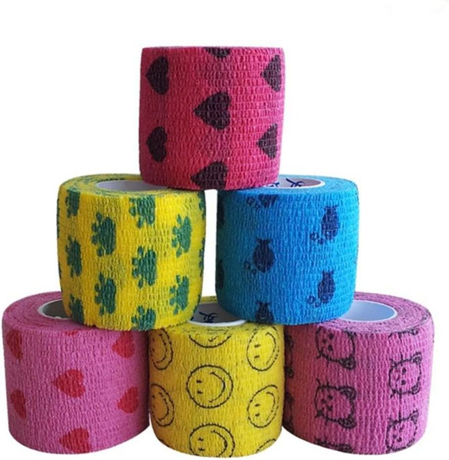 """OFFicial shop Manufacturer direct delivery ICYANG 2"""" x 5 Yards Bandage Cohesive Cartoon Self-Adherent"""