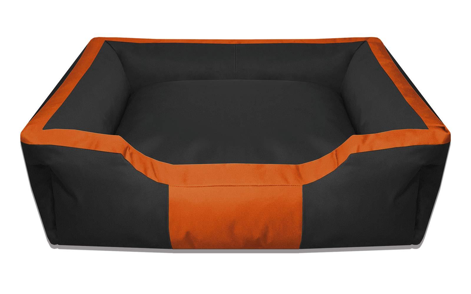 BedDog® Bruno Negro/Naranja XL Aprox. 100x85cm colchón para Perro ...