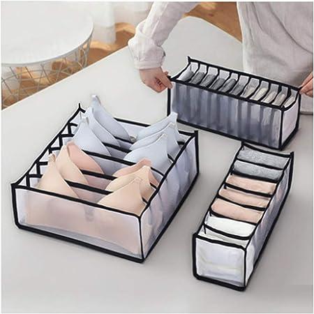 3PCS Foldable Underwear Storage Compartment Organizer Drawer Box Drawer Box Set