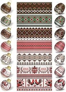 novit/à 2017 n 71 /è Sufficiente per 7 Uova. ukrainisches-kunsthandwerk Pellicola di Uova di Pasqua