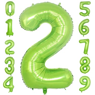 PartyMart Green Foil Balloons Number 2, 40 inch