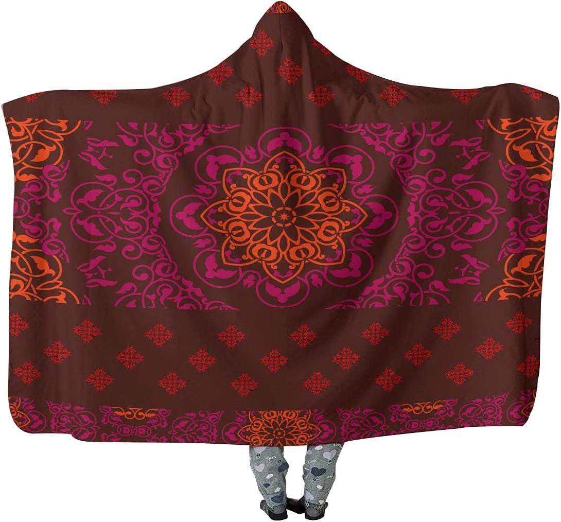 Hooded Blanket Indian Mandala Gorgeous Meditation Over item handling H Hindu Yoga